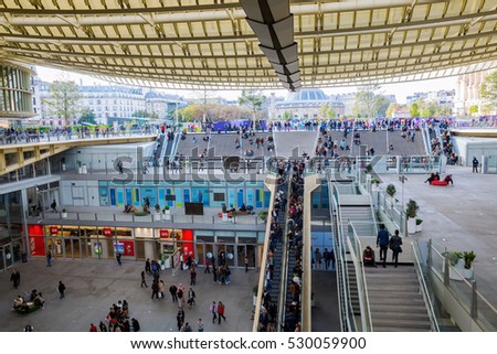 Paris France October 15 2016 Forum Stock Photo (Edit Now
