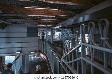Paris, France - October 21, 2019: Paris metro stations