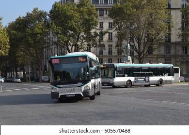 Paris France - October 26 2016 - Local bus in Paris