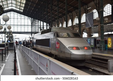 Paris France - October 26 2106 - Gare du Nord (Paris north station), largest and oldest railway stations in Paris.