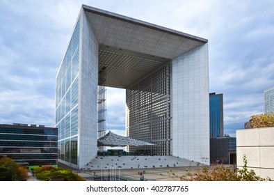Paris,  France - October 6, 2009:  La Defense, the Grand Arc.