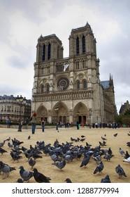 Paris, France, October 6, 2011. Cathedral Notre-Dame