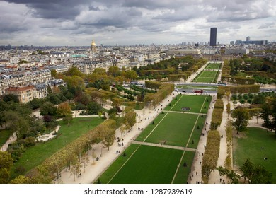 Paris, France. October 7, 2011. View of the autumn city from the height of the Eiffel Tower