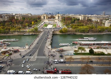 Paris, France. October 7, 2011. Beautiful view of the autumn city from the Eiffel Tower