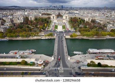 Paris, France. October 7, 2011. View of the city from the Eiffel Tower