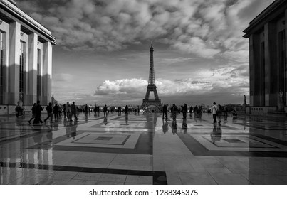Paris, France. October 7, 2011. Beautiful view of the city after the rain. Many tourists want to see the Eiffel Tower