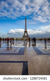 Paris, France. October 7, 2011. Beautiful view of the city and the Eiffel Tower after the rain