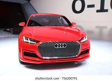 PARIS, FRANCE - OCTOBER 7th, 2014 : Audi Concept at Paris Autoshow