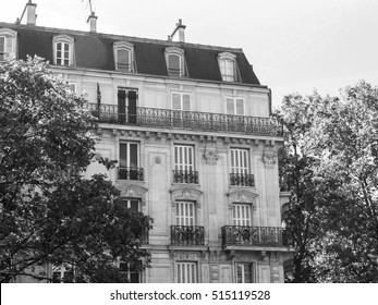 PARIS, FRANCE, on JULY 10, 2016. Typical city architecture. Building facade fragment