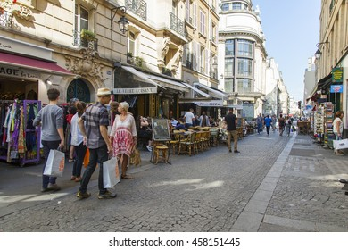 PARIS, FRANCE, on JULY 5, 2016. The typical city street