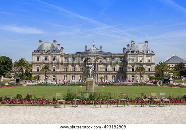 PARIS, FRANCE, on JULY 9, 2016. Luxembourg palace