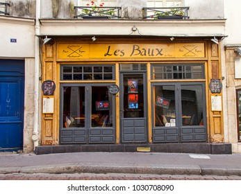 PARIS, FRANCE, on November 1, 2017. Typical Parisian shop in a historical part of the city