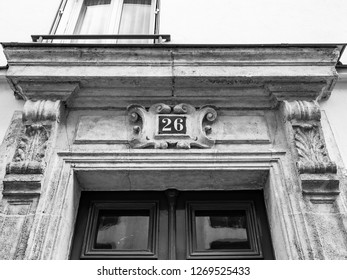 PARIS, FRANCE, on OCTOBER 26, 2018. Typical architectural details of facades of historical building