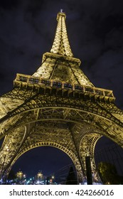 PARIS, FRANCE - SEP 25, 2015 : The Eiffel Tower is a wrought iron lattice tower  in Paris, France. It is named after the engineer Gustave Eiffel, whose company designed and built the tower.