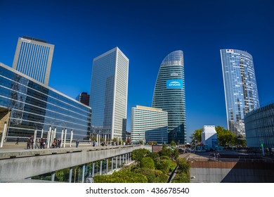 PARIS, FRANCE - SEP 25, 2015 : La Defense is a major business district of the Paris Metropolitan Area.