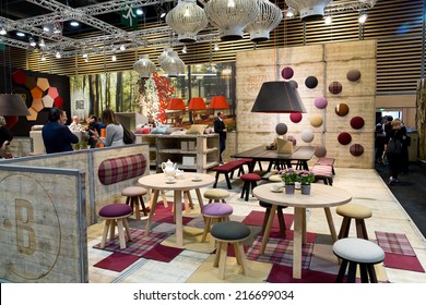 PARIS, FRANCE - SEPT. 5, 2014: Objects are on display at Maison et Objet, the French leading professional trade show for home fashion and design.