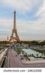 PARIS, FRANCE - SEPTEMBER 02, 2012: The Eiffel Tower in Paris, France