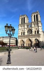 Paris, France - September 10, 2018 - Notre Dame cathedral in Paris