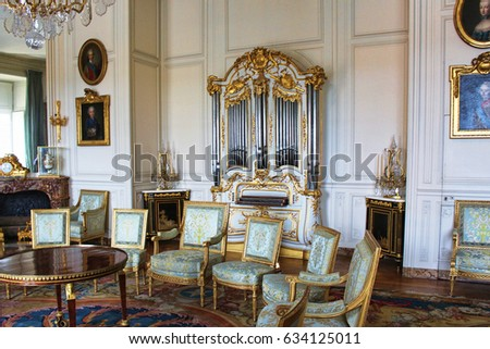 PARIS, FRANCE - SEPTEMBER 12, 2015: Palace of versailles, ludovic XIV cabinet