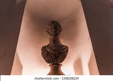 PARIS, FRANCE, SEPTEMBER 16, 2018 : architectural details of the french academy, september 16, 2019, in Paris, France