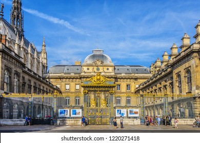 PARIS, FRANCE - SEPTEMBER 20, 2018: Palais de Justice de Paris (Paris Law Courts). Palais de Justice - formerly the Palais de la Cite (Palace of the City).