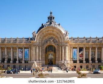 Paris, France. September 23, 2018: The Petit Palais, small palace, is an art museum in the 8th arrondissement of Paris, France.