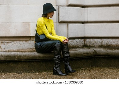 PARIS, FRANCE - SEPTEMBER 25, 2019: Mary Leest seen outside MAISON MARGIELA show, during Paris Fashion Week Womenswear Spring/Summer 2020.