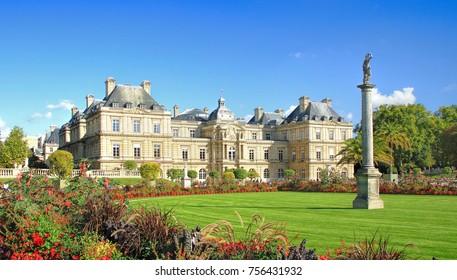 PARIS, FRANCE - September 26, 2015: Venus Goddess of Love statue in Luxembourg Gardens in Paris, France