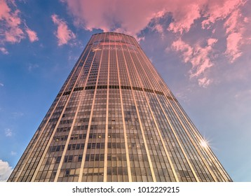 Paris, France - September 26, 2017: The Montparnasse Tower is the only skyscraper within the city limits of Paris.