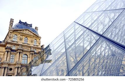 PARIS, FRANCE - SEPTEMBER 26: Louvre on September 26, 2017 in Paris, France.