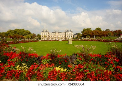 PARIS, FRANCE - SEPTEMBER 26: Luxembourg Palace on September 26, 2017 in Paris, France.
