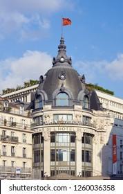 PARIS, FRANCE - SEPTEMBER 28, 2018: The Bazar de l'H� de Ville