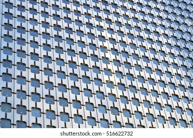 PARIS, FRANCE - SEPTEMBER 29, 2015: Facade of Tour Ariane skyscraper in La Defense business district in Paris, France