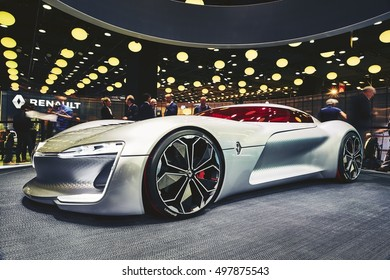 Paris, France - September 29, 2016:  presented on the Paris Motor Show in the Porte de Versailles