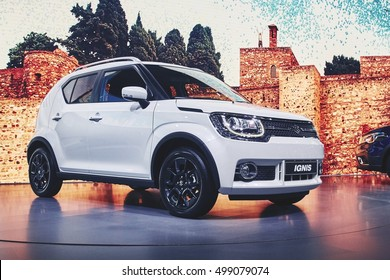 Paris, France - September 29, 2016: 2017 Suzuki Ignis presented on the Paris Motor Show in the Porte de Versailles