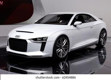 PARIS, FRANCE - SEPTEMBER 30: Paris Motor Show on September 30, 2010, showing Audi quattro concept, front view