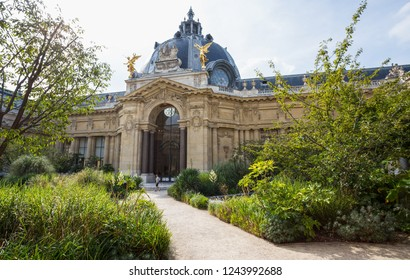 PARIS, FRANCE, SEPTEMBER 5, 2018 - Courtyard of Petit Palais in Paris, France.