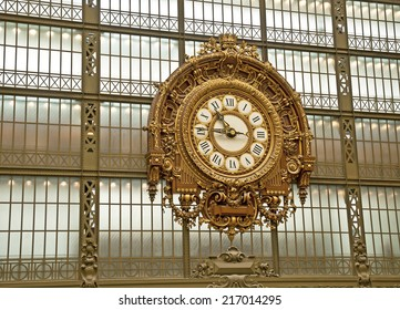 PARIS, FRANCE - SEPTEMBER 7, 2014: Musee d'Orsay. The museum was opened in 1986, the museum houses the largest collection of impressionist and post-impressionist masterpieces in the world.