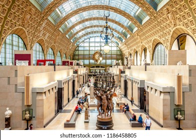 PARIS, FRANCE:20. SEPT. 2018 - Interior view of the main hall, Musée d'Orsay
