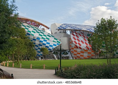 PARIS, FRANCE-AUGUST 05, 2016: Museum of Contemporary Art of the Louis Vuitton Foundation