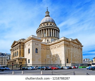 PARIS, FRANCE-August 26, 2009: The Pantheon was originally built as a church dedicated to St. Genevieve and now functions as a secular mausoleum. It was completed in 1790.