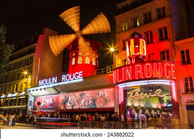 Paris, France-July 11, the Moulin Rouge, the Parisian cabaret, July 11.2014 in Paris