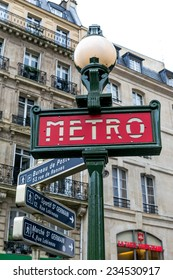 Paris, France-July 12, the subway in Paris, July 12.2014 in Paris