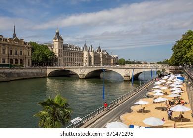 Paris, France-July 19, on the Seine in Paris, Paris, France, July 19.2015