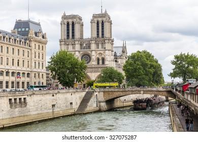 Paris, France-July 20, Notre Dame Cathedral in Paris, July 20.2015 in Paris
