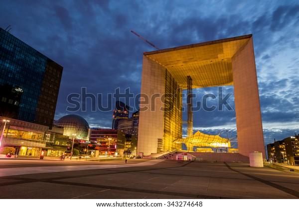 Paris, France-July 22, La Defense business district of Paris, July 22.2015 in Paris