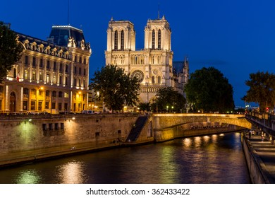 Paris, France-July 27, Notre Dame Cathedral in Paris, France, July 27.2015 in Paris