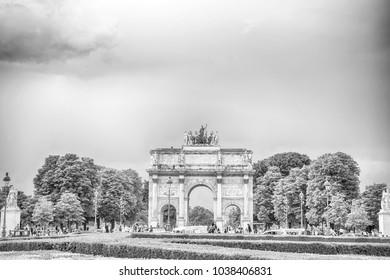 Peace arch covered snow sempione park stock photo 166134416 paris france june 1 2016 triumphal arch arc de triomphe du malvernweather Gallery