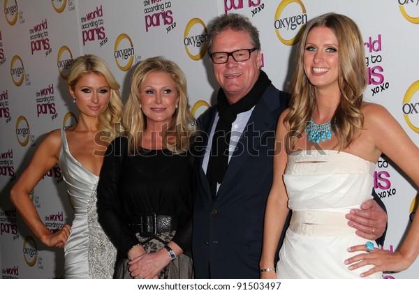 Paris Hilton Kathy Hilton Rick Hilton Stock Image | Download Now