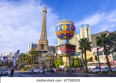 Paris Hotel and Casino in Las Vegas - LAS VEGAS / NEVADA - APRIL 25, 2017